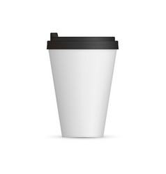 white coffee cap mock up empty mug template vector image