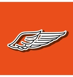 wings icon design vector image