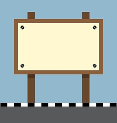Wooden sign board at footpath vector