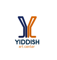 y letter icon for yiddish art center vector image