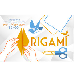 banner object for origami vector image vector image