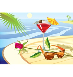 Beach cocktail vector image