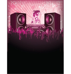 concert poster with speakers vector image vector image