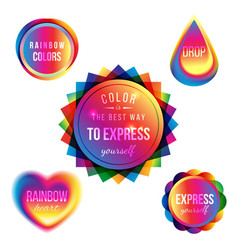 multicolored signs vector image vector image