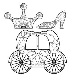 Princess set coloring vector image