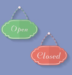 Signs of Open and Closed Open closed icons vector image vector image