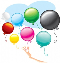 beauty balloons vector image vector image