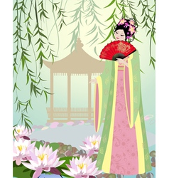 China girl7 vector image