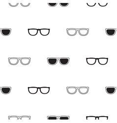 sunglasses retro seamless pattern in black and vector image vector image
