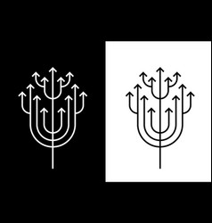 Abstract growing arrow tree that symbolizes vector