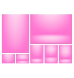 Gradient background set vector image vector image