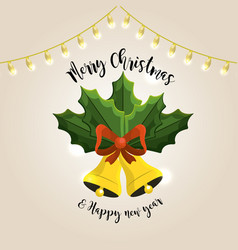 merry christmas celebration and decoration design vector image