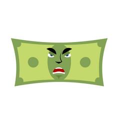Money angry emotion cash emoji evil dollar vector