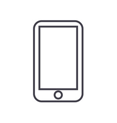 smartphone line icon sign on vector image
