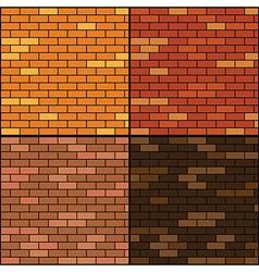 brick wall background set vector image