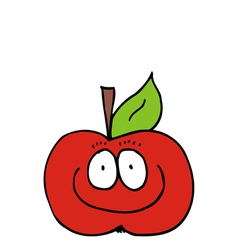Caricature of Apple vector image