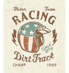 Dirt track racing vector image