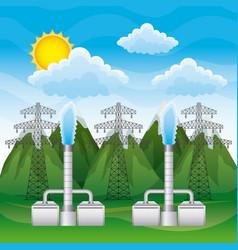 renewable energy clean design vector image