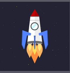 Technology ship rocket startup innovation vector