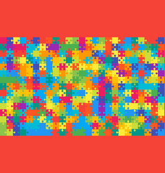 375 multicolor puzzles pieces jigsaw - vector