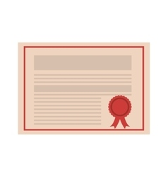 Academic certificate icon vector