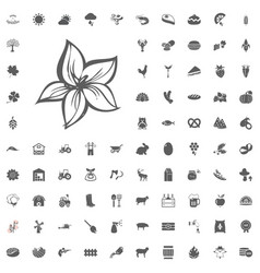 agriculture and farm icons set vector image
