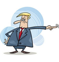 angry boss firing somebody vector image