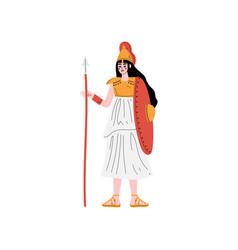 Athena olympian greek goddess ancient greece vector