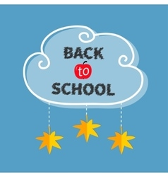 Back to school White cloud contour frame Hanging vector image