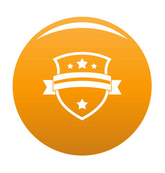 badge knight icon orange vector image