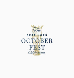 Best beer octoberfest celebration abstract vector