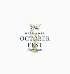best beer oktoberfest celebration abstract vector image