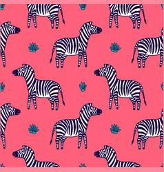 black and white zebra vector image