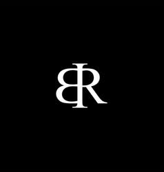 Br letter mark monogram logo icon vector