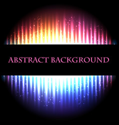 bright neon glowing abstract background vector image
