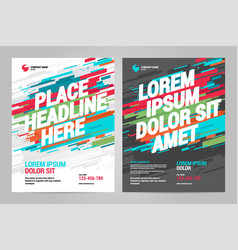 brochure layout templat design vector image
