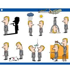 cartoon business concepts set vector image