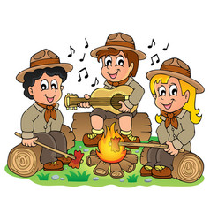 Children scouts theme image 1 vector