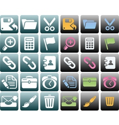 Computer interface vector image