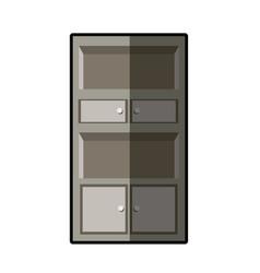 cupboard furniture wooden decoration vector image