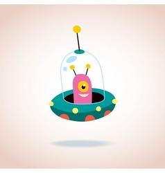 cute alien character 3 vector image