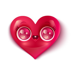 cute heart vector image