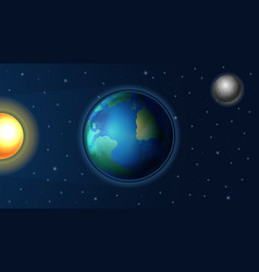 Day night cycle sunlight on earth planet vector