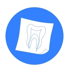 Dental x-ray icon in black style isolated on white vector