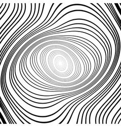 Design monochrome whirlpool ellipse background vector