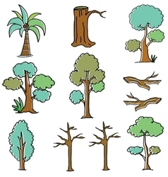 Doodle of tree art vector