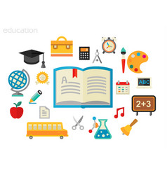 education concept flat vector image
