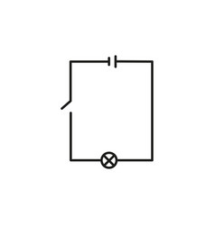 Electric scheme icon vector
