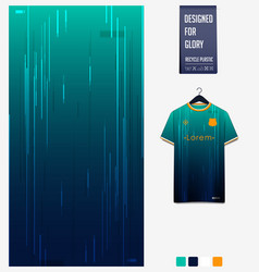 Fabric textile design for soccer jersey pattern vector