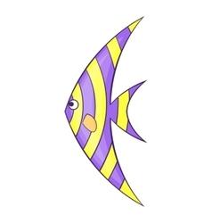 Fish zanclus icon cartoon style vector